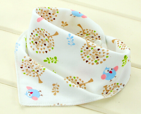 Baby bibs High quality triangl double layers cotton baberos Cartoon Character Animal Print baby bandana bibs dribble bibs finger print bandana