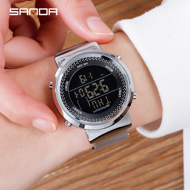 relogio feiminio Digital Watch Women Luxury Rose Gold Women Men Sports Watches LED Electronic Wrist Watch Waterproof reloj mujer 6