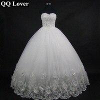QQคนรัก2017ที่มีคุณภาพสูงหรูหราสง่างามลูกไม้ชุดแต่งงานวิน