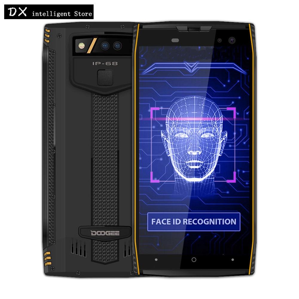 DOOGEE S50 6 gb RAM 128 gb IP68 Étanche SmartPhone 5.7 pouce 4g LTE MT6763T P23 Octa base Android 7.1 16.0MP 5180 mah D'empreintes Digitales