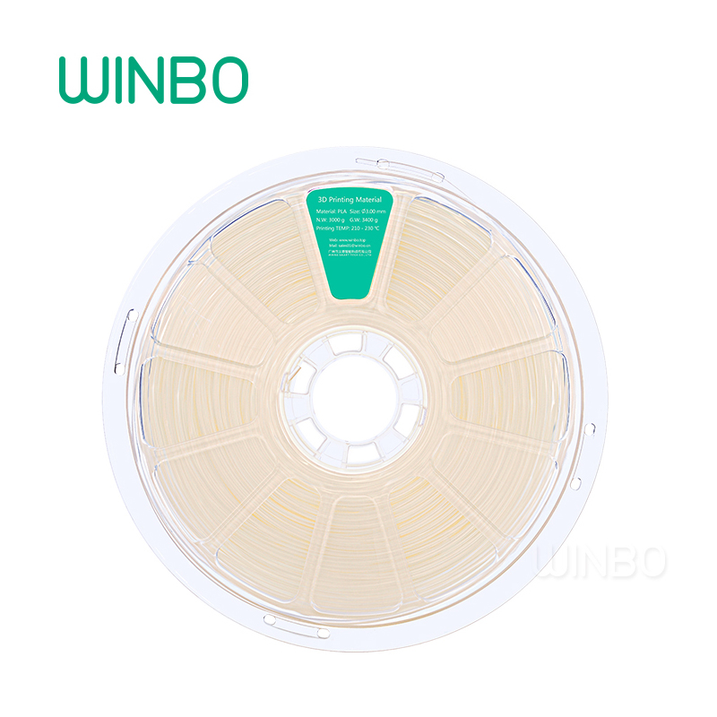 3D Printer PLA filament 3mm 3kg Transparent Winbo 3D plastic filament Eco-friendly Food grade 3D printing material Free Shipping 3d printer pla filament 3mm 3kg yellow winbo 3d plastic filament eco friendly food grade 3d printing material free shipping