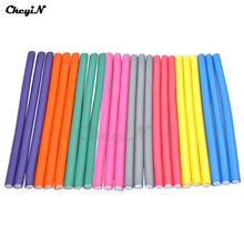 40Pcs/lot Colorful Twist Plastic Hair Curling Flexi Rods Magic Air Foam Hair Roller Curler Bendy Magic Styling Hair Sticks P1535