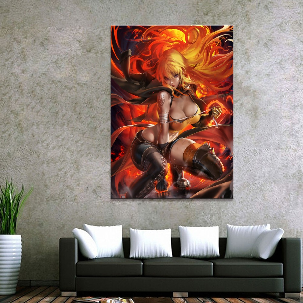 Home Decor Canvas 1 Piece Sexy Anime RWBY Art Posters and Prints Painting Home Decoration Wall Pictures Bedroom