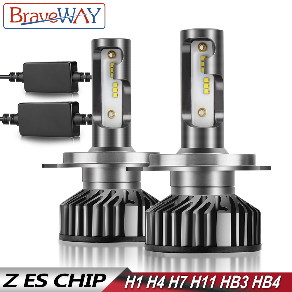 BraveWay H4 LED Bulb H1 H7 H8 H11 HB3 HB4 9005 9006 Car Light Bulbs H4 Headlight nebbia tetris lamp H7 LED Canbus for Moto Auto in Car Headlight Bulbs LED from Automobiles Motorcycles