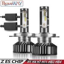 BraveWay H4 LED Bulb H1 H7 H8 H11 HB3 HB4 9005 9006 Car Light Bulbs Headlight nebbia tetris lamp Canbus for Moto Auto