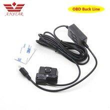 ANSTAR OBD II Buck Linea per 24 Ore di Monitoraggio di Parcheggio Videocamera per auto Del Rivelatore Del Radar DVR Cavi Foto/videocamera lunghezza 3 m accessori