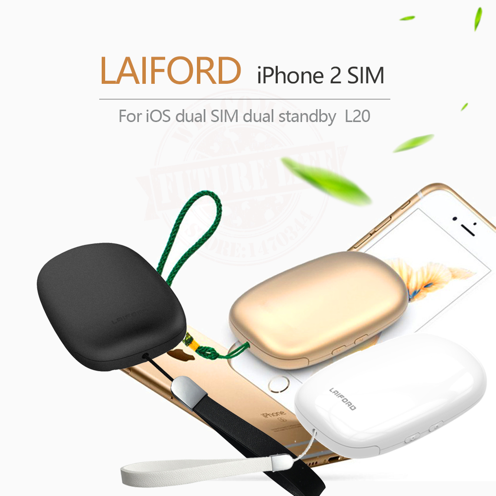 Dual 2 Sim Dual Standby Extend SIM Bluetooth Adapter L10 LAIFORD GoodTalk No Jailbreak for iPhone5-7 and iOS7-10.3.3