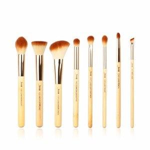 Набор кистей для макияжа Jessup, 8 шт., бамбуковые Профессиональные кисти для макияжа, Pincel Maquiagem, карандаш, подводка, Stippling, консилер для щек, T138
