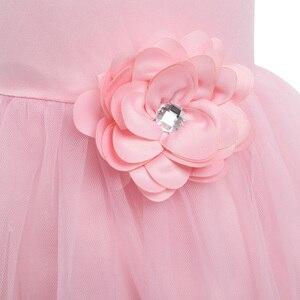 Image 4 - Iiniim Váy Đầm Công Chúa Cho Bé Gái Không Tay Xếp Lớp Voan Đầm Hoa Bé Gái Cuộc Thi Cưới Cô Dâu Sinh Nhật Đầm