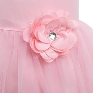 Image 4 - Iiniim prenses elbise çocuklar kızlar için kolsuz katmanlı tüllü çiçekli kız elbisesi Pageant düğün nedime doğum günü partisi elbisesi