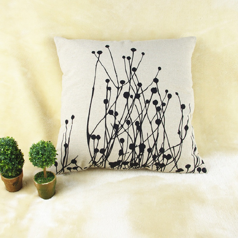 New Christmas Decorative pillowcases Scandinavian standard simple knitting cotton Linen pillow Home office chair Waist Cushion