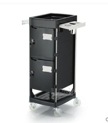 New style hair salon tool cart hair cart bar car with door lock to improve management.