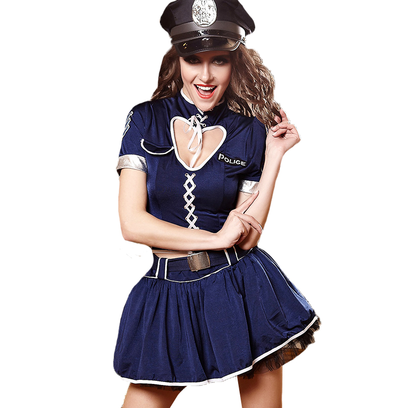 2019 New Adult Sexy Halloween Policewoman Cosplay Costume Mounted Police Uniform Lure -6230