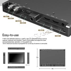 Image 4 - شاشة عرض فيديو كاملة عالية الوضوح مقاس 7 بوصات 1920 × 1200 4K HDMI 3G SDI في/خارج ث/بطارية على كاميرا مراقبة حقل الفيديو لسوني PXW FS7 EVA1 Gimbal