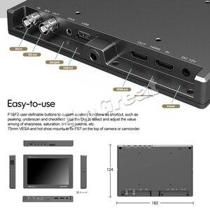Image 4 - Lilliput Monitor de campo de vídeo para cámara, 7 pulgadas, Full HD, 1920x1200, 4K, HDMI, 3G SDI, entrada/salida con batería, para Sony PXW FS7, EVA1, cardán