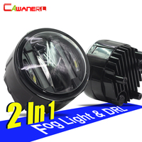Cawanerl For Nissan Note X Trail Qashqai Juke Patrol Versa Tiida NV200 Cube Car LED Fog Light DRL Daytime Running Lamp 2 Pieces