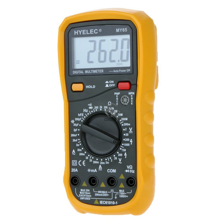 Professional digital multimeter AC/DC Voltage Current Resistance Capacitance Tester Multimetro Ammeter Multitester MY65  цены