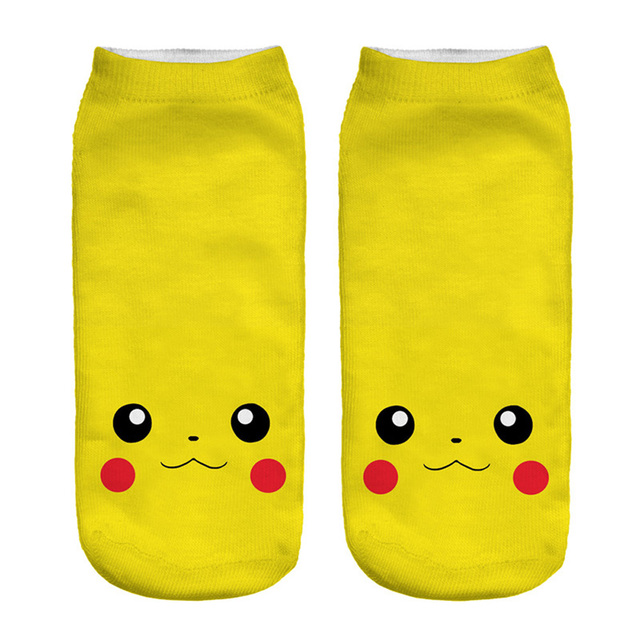 Pokemon Socks 3D Printed Cartoon Low Cut Ankle Socks