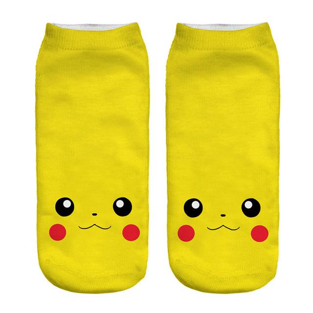 Pokemon Socks 3D Printed Cartoon Low Cut Ankle Socks