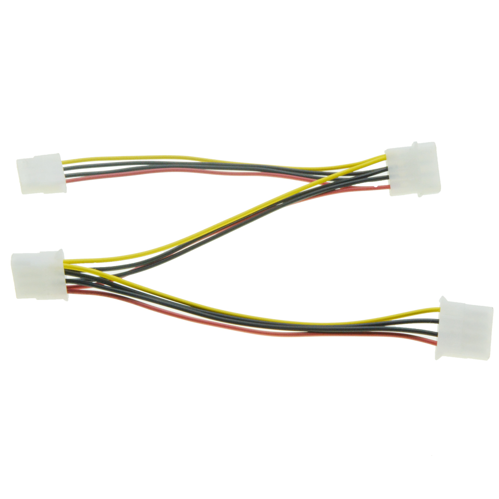 4pin Molex Power Port Male 1 To 3 Female Ports Power