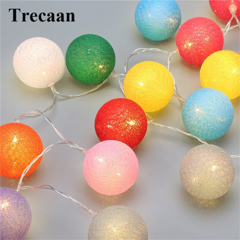 Trecaan 10 light cotton ball light string children bedroom tents decorative lights Christmas party party light string