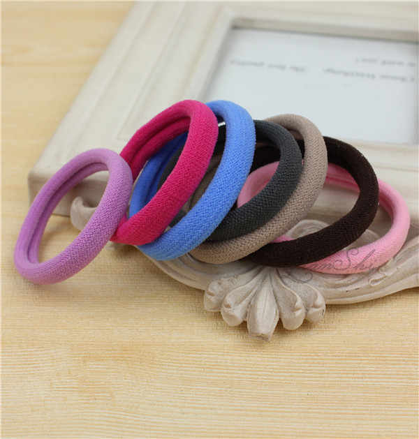 New 20pcs/Lot Girls Candy Colors 4.5 CM Rubber Bands Children Elastic Hair Bands Ponytail Holder Kids Hair Accessories NS9069