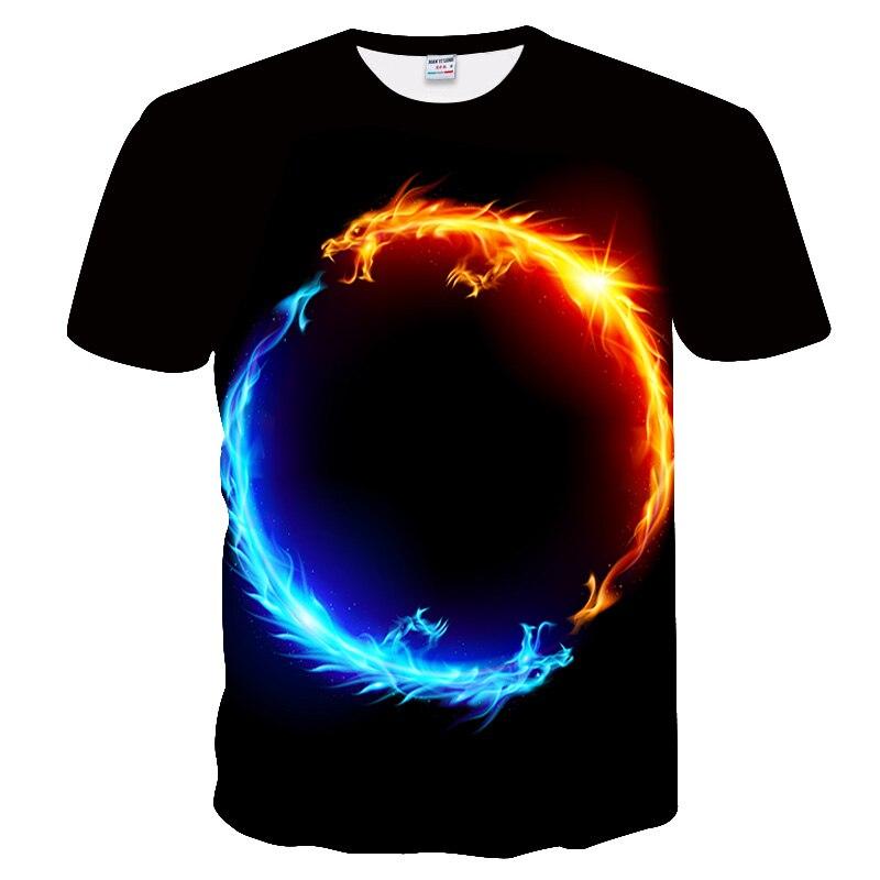 More than 2019 summer men fashion t shirt Dragon printing T shirt men trend Casual T-shirt short sleeve Tops