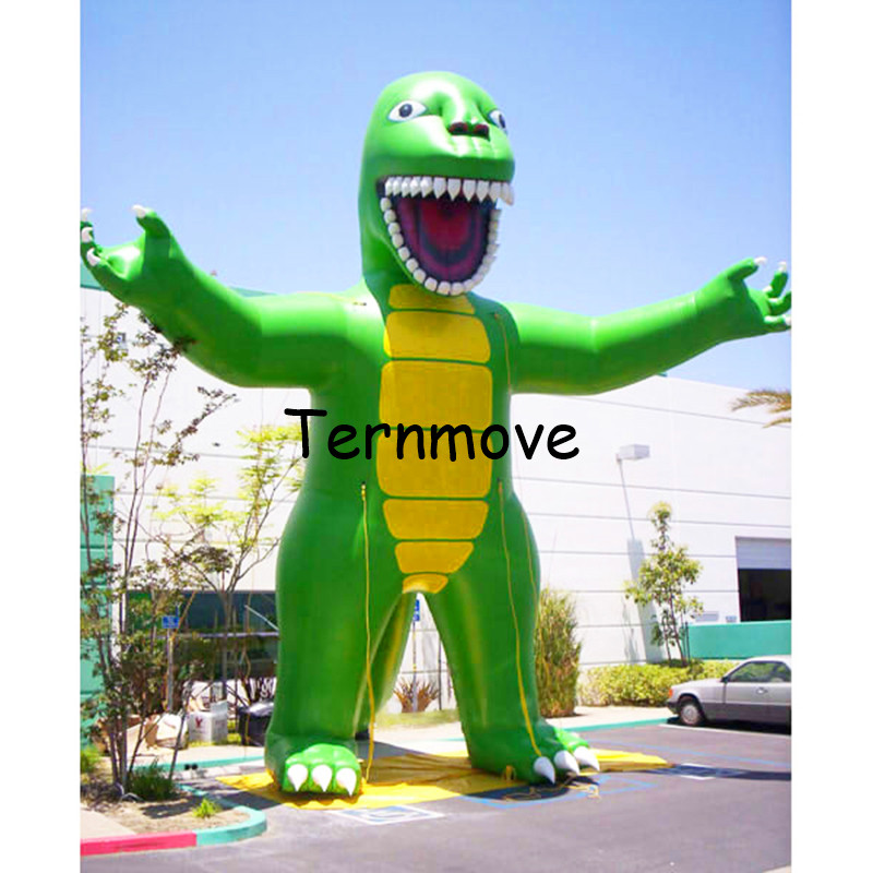 inflatable dinosaur model cartoon giant inflatable dinosaur stand balloon cartoon mascot with blower Model event crane embroidery ribbon tape detail jacket
