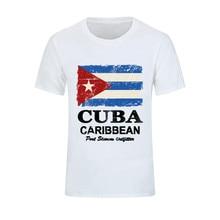 Di nuovo Modo di Cuba Bandiera degli uomini di T Camicette Cotone O Collo t- 19a3f68a1ded
