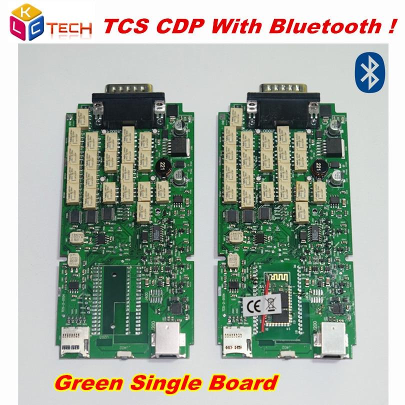 Prix pour Plus haute Qualité avec Bluetooth Carte Unique vert pcb TCS CDP pour Auto Voiture Outils D'analyse Pour Les Voitures et Camions
