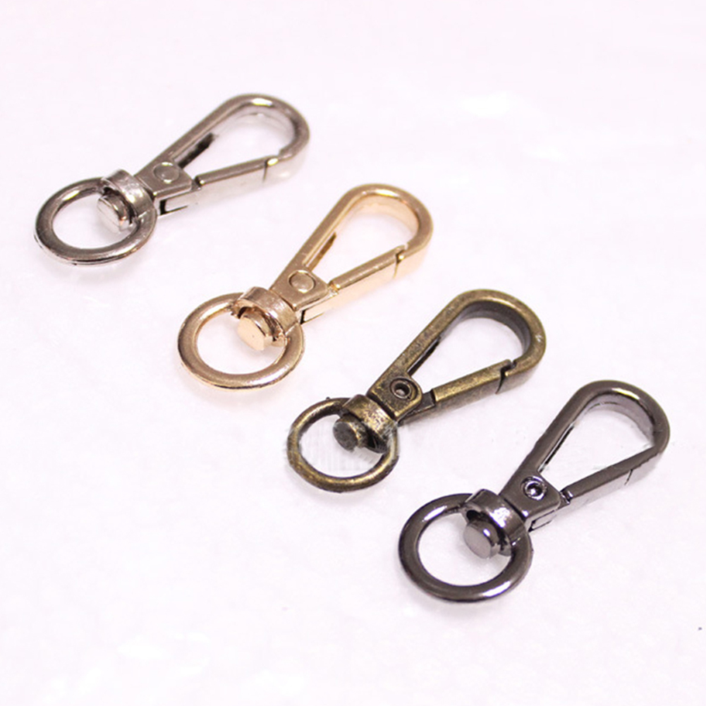 5Pcs 4 Sizes Metal Swivel Trigger Lobster Clasps For Bag Hook Key Chain DIY Zinc Alloy Gold Silver Belt Buckle Bag Accessories