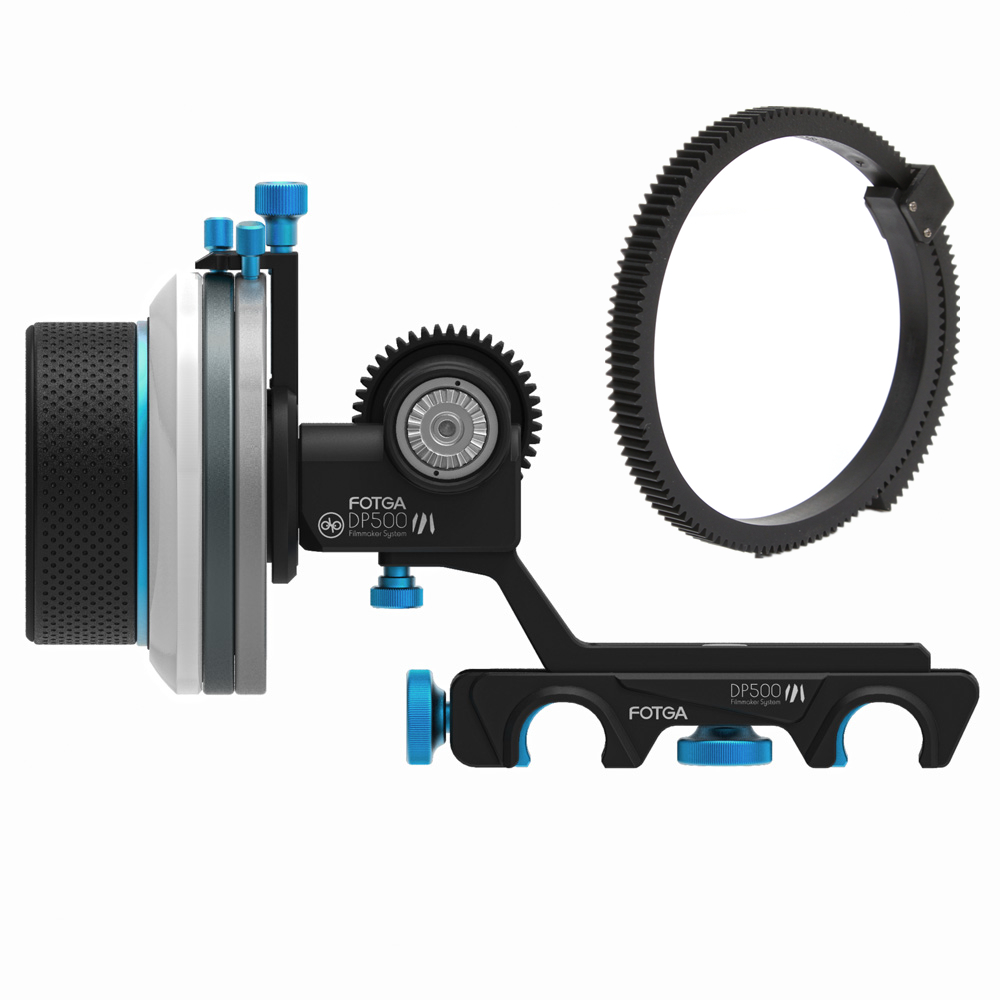 FOTGA DP500III 3 Quick Release A/B Hard Stop Follow Focus for 15mm Rod DSLR Rig
