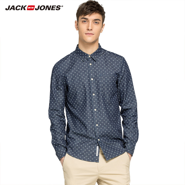 JACKJONES Brand  Men HOT Casual shirts Male slim shirts regular cotton 100%  Male tops| 216105034 1