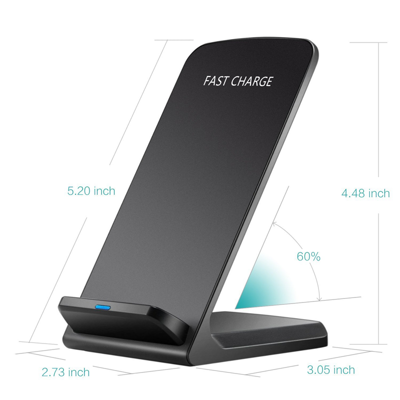 Quick Charging Holder Stand For Samsung S9 S8 Plus S7 S6 edge Note 8 10W Qi Wireless Charger For iPhone X 8 Plus Fast Charger in Mobile Phone Chargers from Cellphones Telecommunications