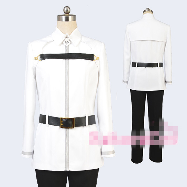 Anime Fate Grand Order Fujimaru Ritsuka Initial Stage Cos coat+trousers+belt+neckpiece Cosplay Costume+Free Shipping G