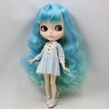 ICY Neo Blythe Doll Blue Mint Hair Jointed Body 30cm
