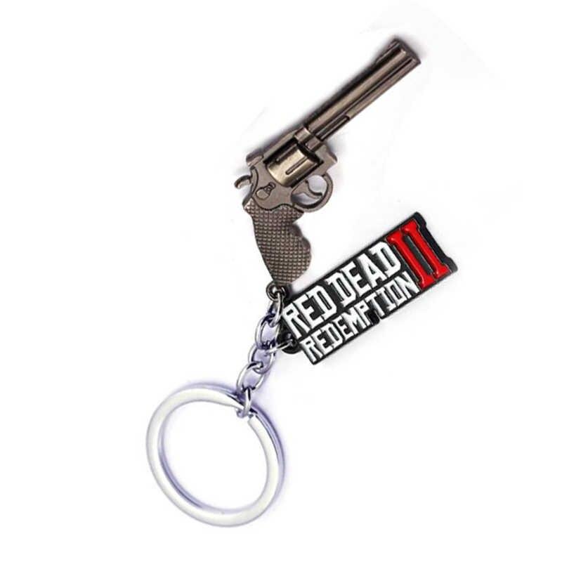 Red Dead Redemption 2 Sleutelhanger Pistool Spel Hanger Metalen Speelgoed Sleutelhanger Houder Mannen Auto Vrouwen Tas Sleutelhanger Chaveiro sieraden