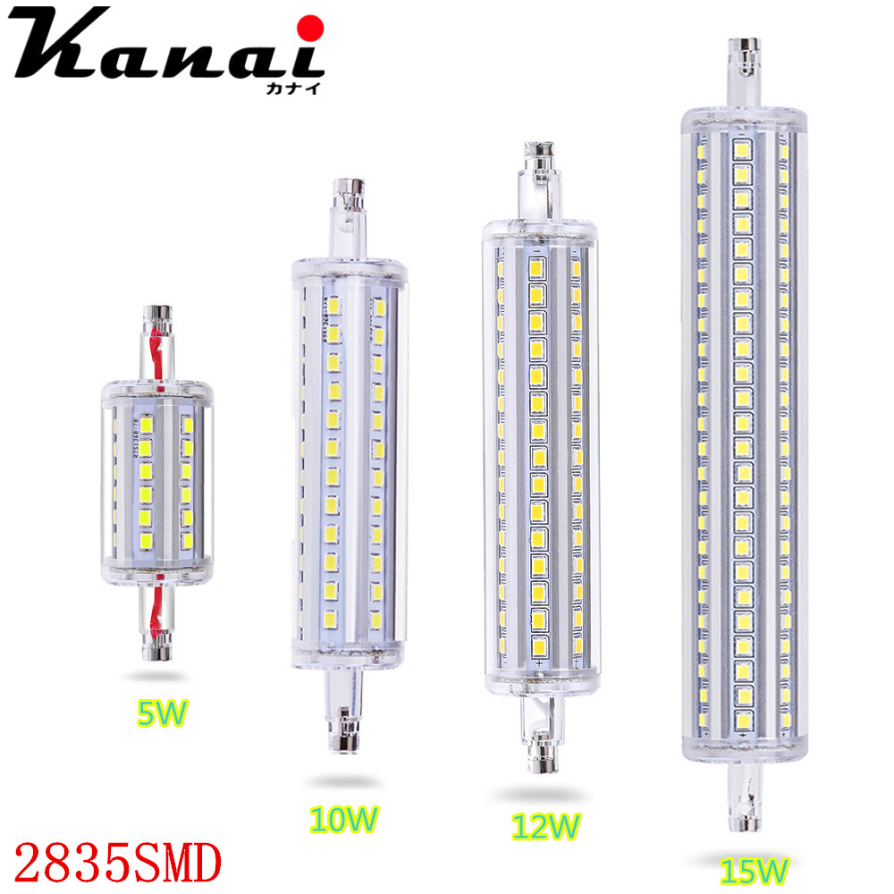 Dimmable R7S 5W 10W 12W 15W 85-265V LED 2835 SMD Lamp Energy Saving Flood Light Bulb Lamp IP65 LED Cast Lamp стоимость