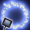 TSLEEN movido a energia solar 100 leds 33ft fio de cobre luzes cordas lâmpada camping decorações do partido árvore de natal decorativo lampada