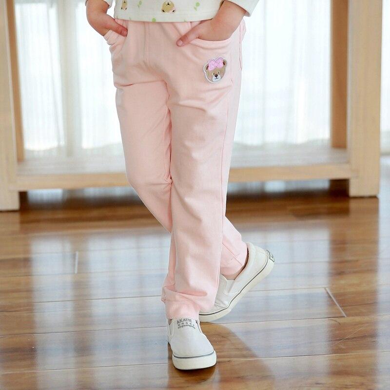 2016 Vestidos menina bear autumn casual pants girl cotton pants kids clothes girls clothes children clothing