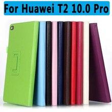 100% de Alta Calidad de LA PU Cuero de La Cubierta Protectora Para Huawei MediaPad T2 10.0 Pro T2 10.0 Pro Cubierta Elegante Del Caso para Huawei Mediapad
