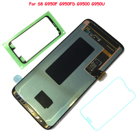 FIX2SAILING 100 Tested Working AMOLED LCD Display Touch Screen Assembly For Samsung Galaxy S8 G950F G950FD