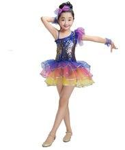 36a1372ae0 Vestido de Ballet Para Crianças Crianças Lantejoulas Trajes de Balé Para  Meninas Palco Dancewear Jazz Dança Collant Criança Vest.