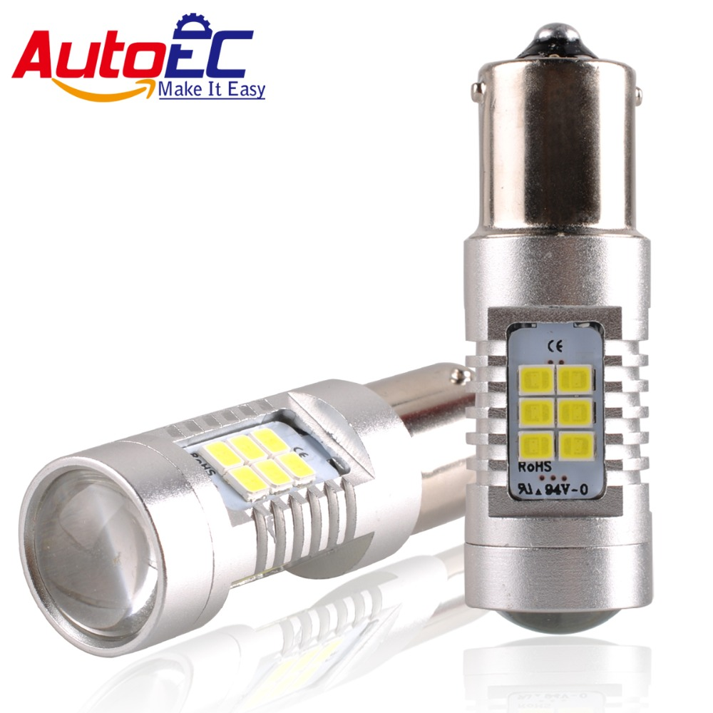 AutoEC 2x1156 BA15S P21W 1157 BAY15D P21/5W BAY15D PY21W Car Led Light 24 smd 2835 Brake Tail Turn Signal Light Bulb Lamp DC 12V