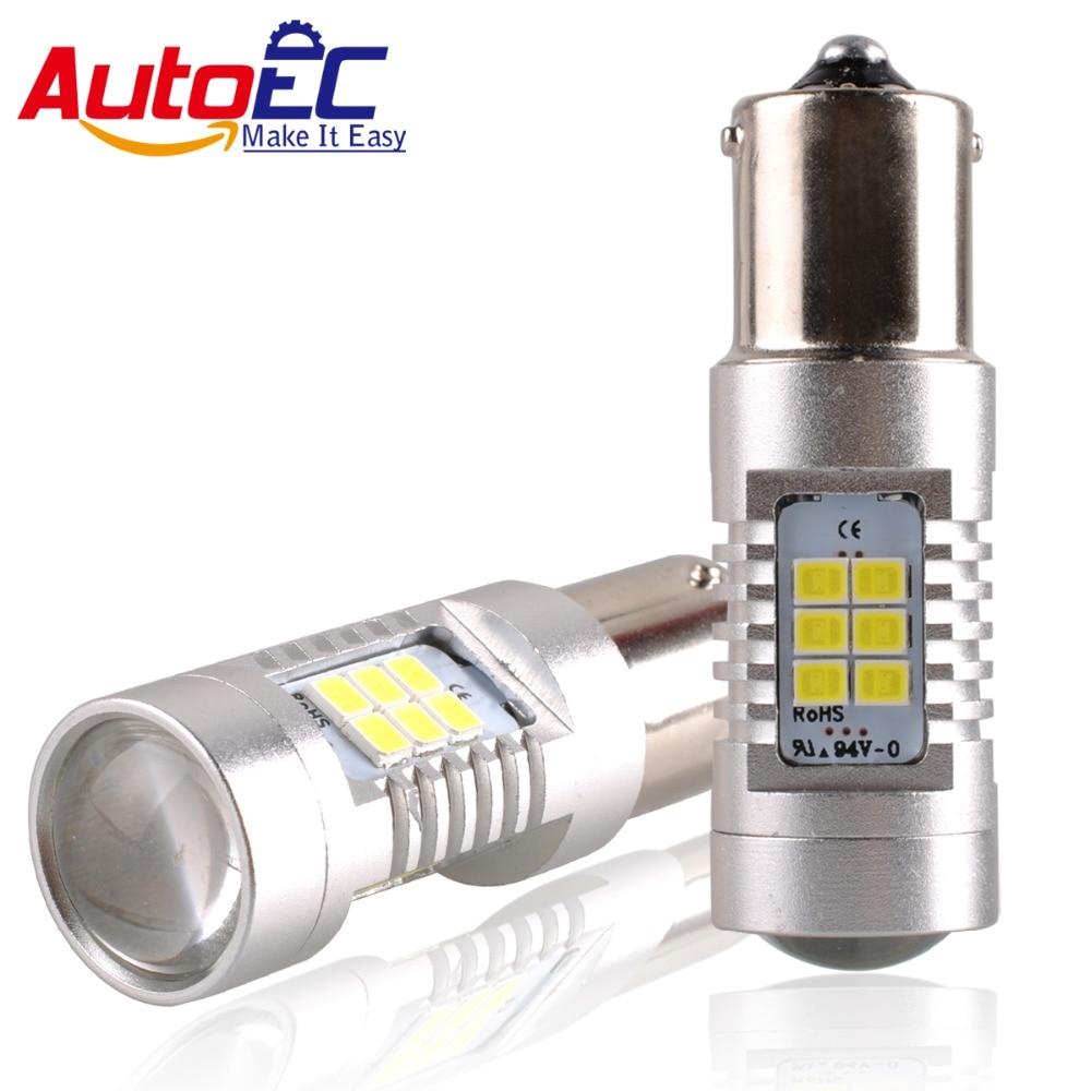AutoEC 2x1156 BA15S P21W 1157 BAY15D P21/5W BAY15D PY21W Car Led Light 24 smd 2835 Brake Tail Turn Signal Light Bulb Lamp DC 12V