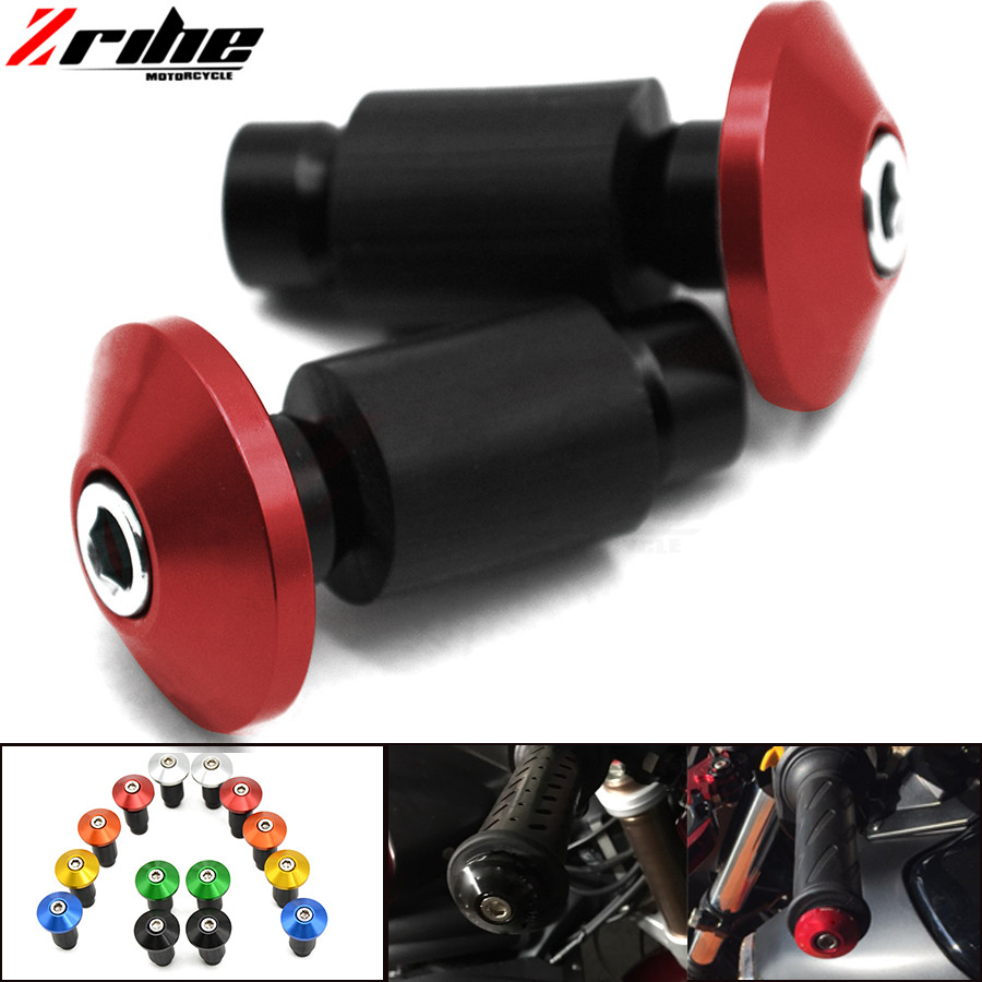 for 7/8 Universal Motorcycle Handlebar CNC Aluminum Part Handle Hand Grips Bars Ends For Yamaha FJ-09/MT-09 Tracer FZ1 FZ8 XJ6 mz short universal aluminum alloy motorcycle handlebar ends caps plugs golden pair