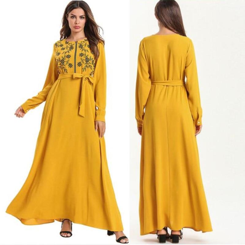 Mustard Modernism Abaya, Maxi Dress for Women
