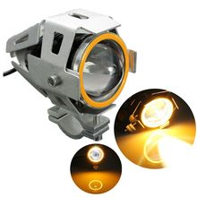 15W Motorcycle Headlight Fog Lights LED Driving Motorbike Spot Head Lamps Headlamp Silver(China)