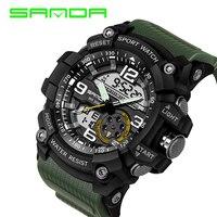 Top Brand SANDA Military Watch Men Waterproof Sport Watch Male Casual Led Digital Wristwatch