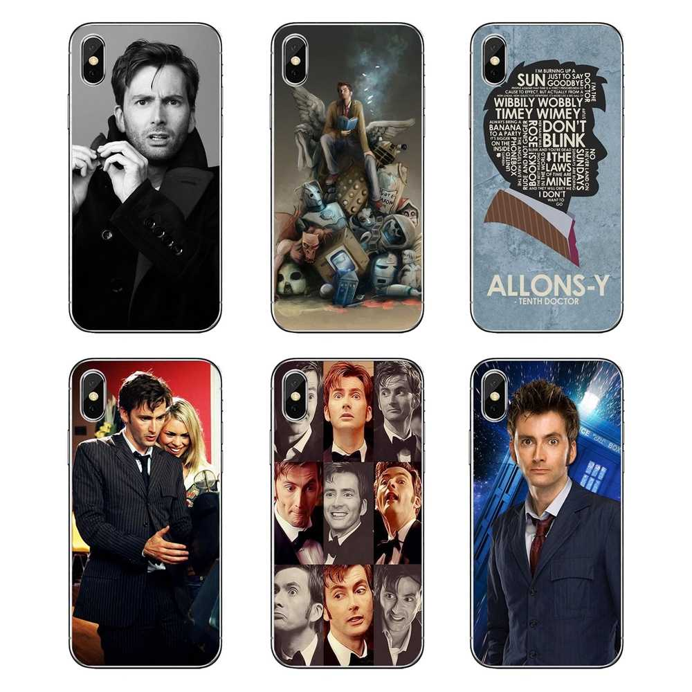 Tardis Doctor Who With David Tennant Silicone Phone Skin Case For Samsung Galaxy A5 A6 A7 A8 A9 J4 J5 J7 J8 2017 2018 Plus Prime